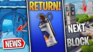Fortnite News | Smoke Grenades Return, Snow Melting Daily, Next Block POI Leaked & More!