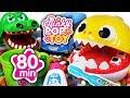 September 2018 TOP 10 Videos 80min Baby shark, Tayo, Pororo, baby doll #PinkyPopTOY