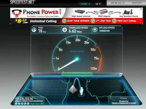 AMC Albania 3G SpeedTest