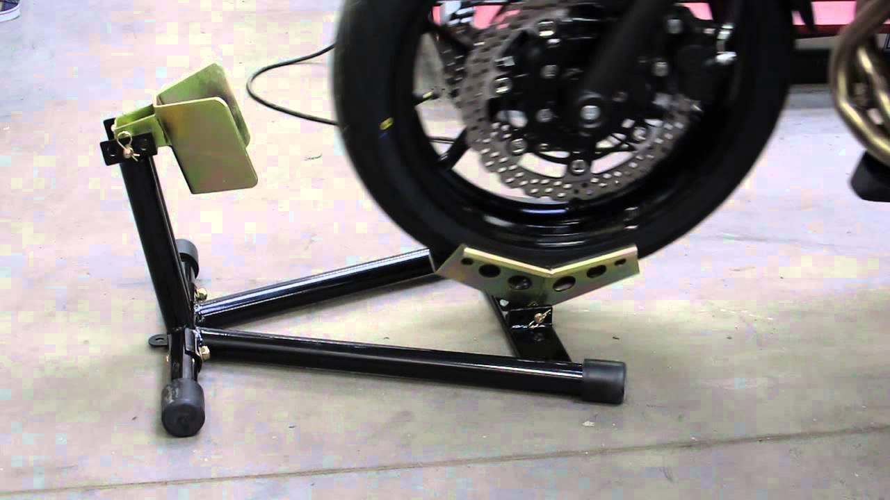 biketek motorcycle wheel chock youtube