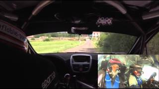 Rallye du 14 Juillet 2015 Steve Mourey - Pauline Choffel Peugeot 207 S2000