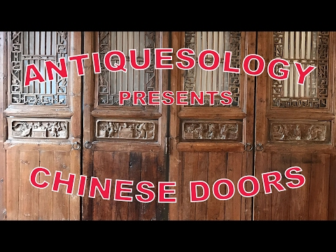 Antiquesology presents: Chinese Ming or Qing Dynasty Antique Carved Wooden Doors