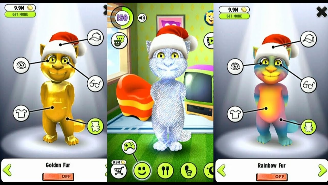 My talking tom gameplay trailer update level 999 youtube