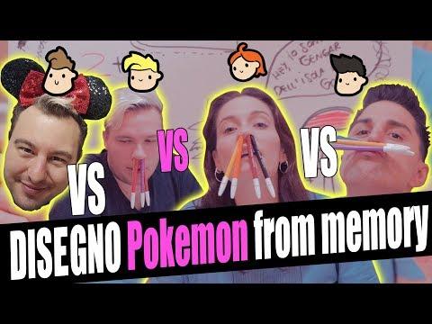 Draw Pokémon from MEMORY - LaSabri VS Anima VS Solfie VS Amico.andre