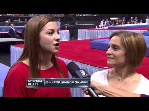Mary Lou Retton and McKenna Kelley - Interview - 2014 AT&T American Cup