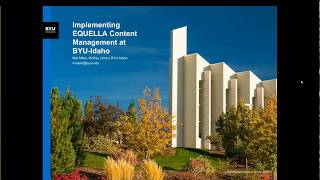 openEQUELLA at BYU-Idaho