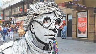 Amazing Living Human Statue   Street Entertainer  