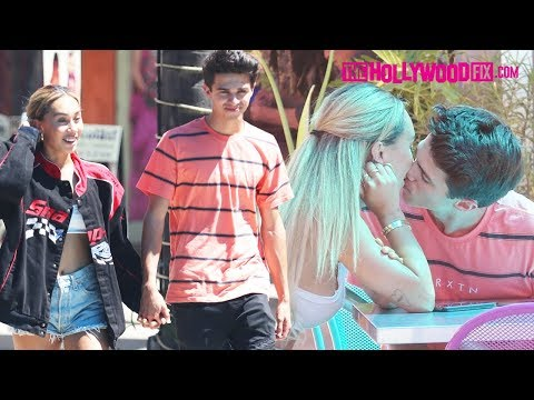 Brent Rivera & Eva Gutowski Pack On The PDA While On A Date At A Spanish Mall In Van Nuys 8.21.19