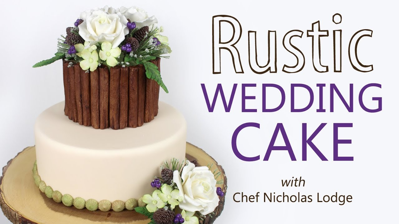 Make A Rustic Wedding Cake | Floral Decoration Tutorial - YouTube