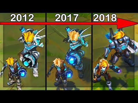 Evolution of Pulsefire Ezreal - All Updates (League of Legends)