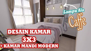 Desain Kamar 3x3 Dengan Kamar Mandi Modern Youtube