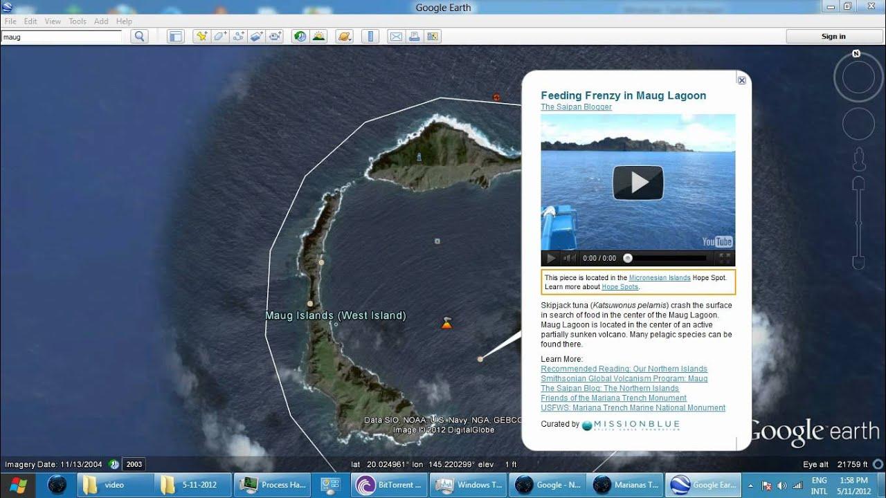Maug Island Google Earth Crash Videowmv YouTube - Ascension island google map