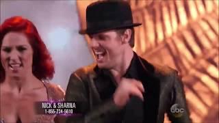 Nick Carter & Sharna Burgess - All dances on DWTS