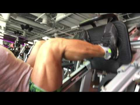 JOSEPH GATT  Fitness  1000lb Leg Press Crunch Gym Sunset