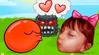 КРАСНЫЙ ШАРИК против ЗЛОГО черного КВАДРАТА игровой мультик видео для детей как КИД #Валеришка