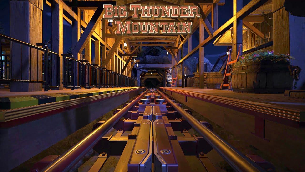 "【Disney】プラネットコースター ジェットコースター 「ビッグサンダーマウンテン・改」/""Super Big Thunder Mountain!?"" at Planet Coaster"