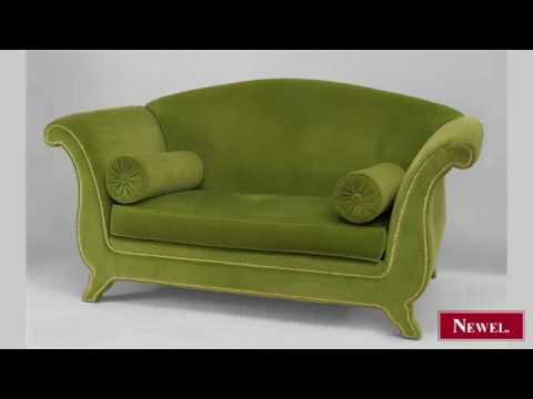 Antique French Victorian style (modern) loveseat with camel
