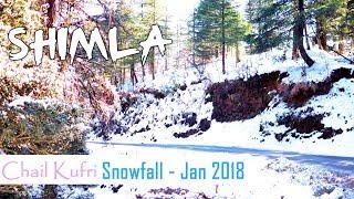 Chandigarh to Shimla | Shimla Snow Fall | Shimla Road Trip | Chail | Kufri - January 2018