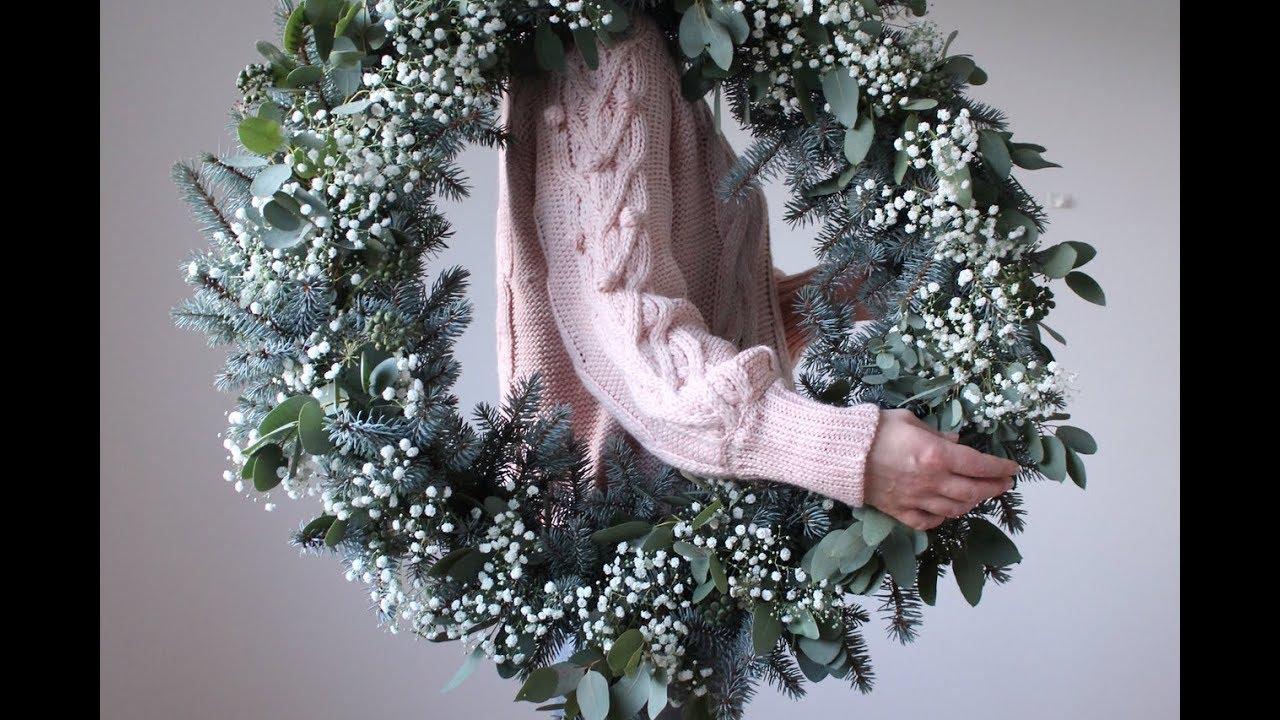 Blue Spruce And Eucalyptus Christmas Wreath