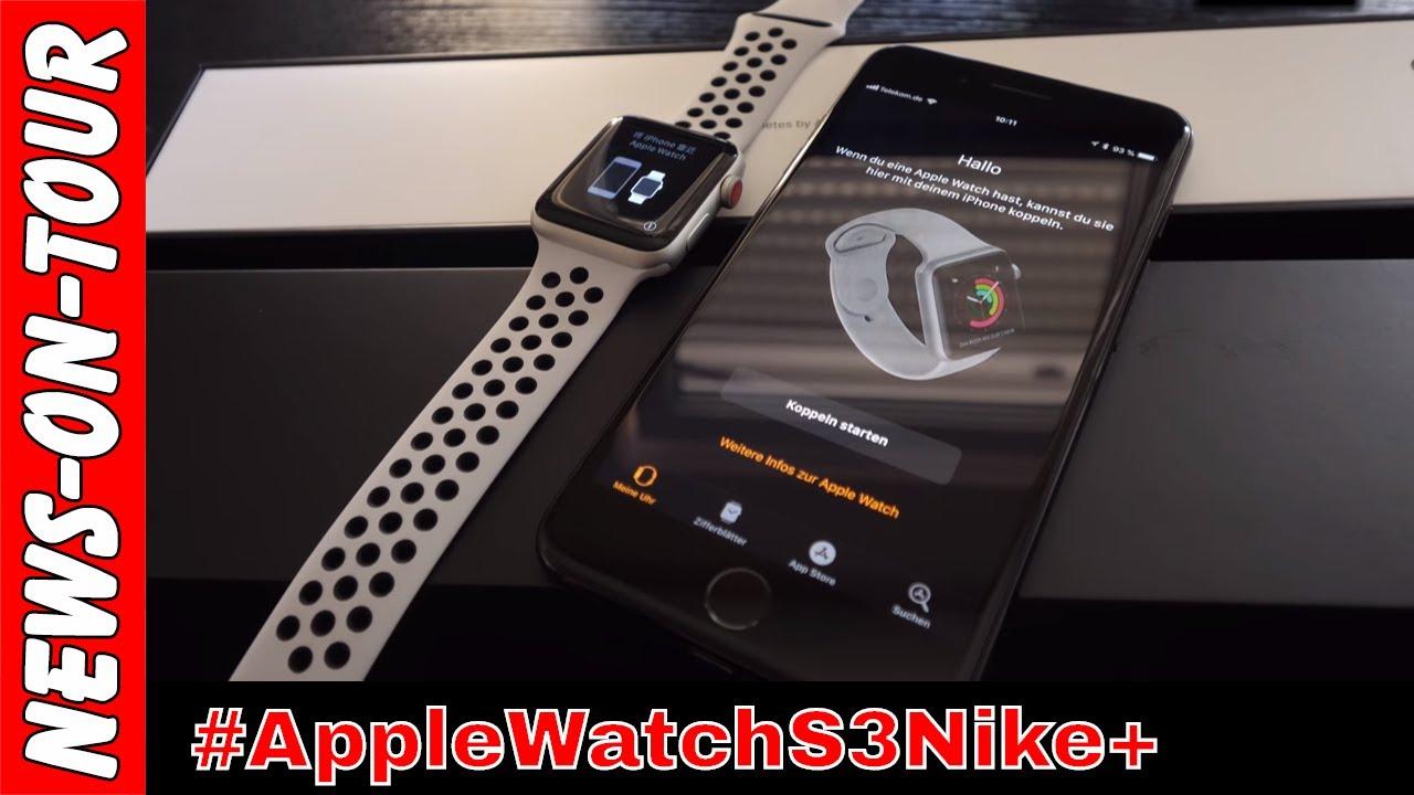 información para nuevo lanzamiento muy elogiado Apple Watch Nike+ (4k) S3 Unboxing MQME2ZD/A 42 SI Al Pr Plat Blk ...