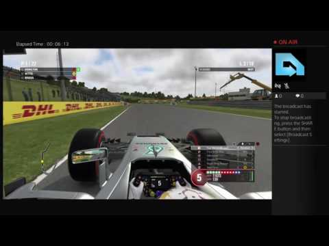 F1 2016 Hungary Live PS4 Broadcast