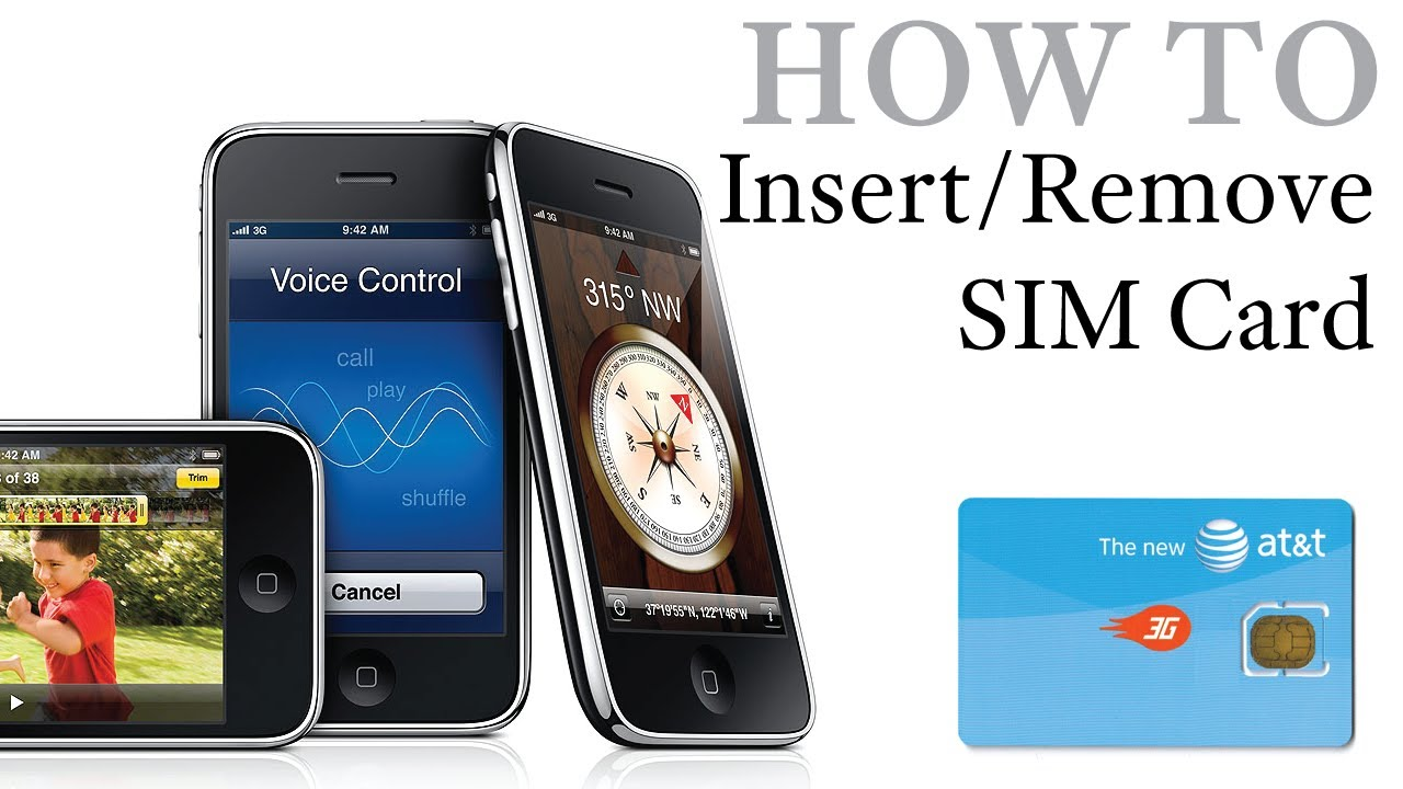 iPhone How To: Insert / Remove a SIM Card iPhone, iPhone 3G & iPhone 3GS - YouTube