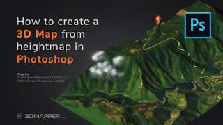 How to create 3D Map from heightmap and texture in Photoshop and ATLAS plugin