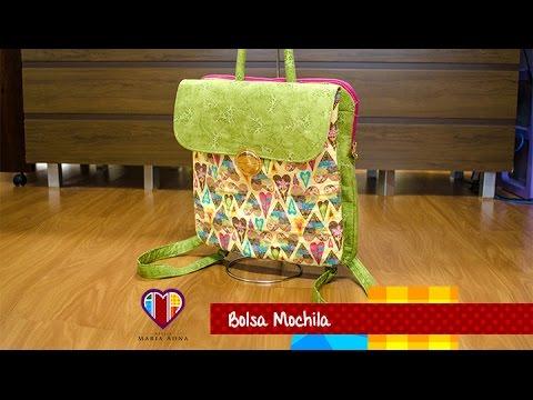 3e9202ed1 Bolsa mochila de tecido Love. Fabric bag and backpack tutorial. Bag and  backpack tutorial