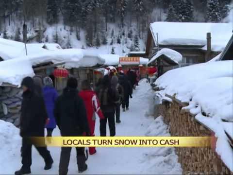 Locals turn snow into cash
