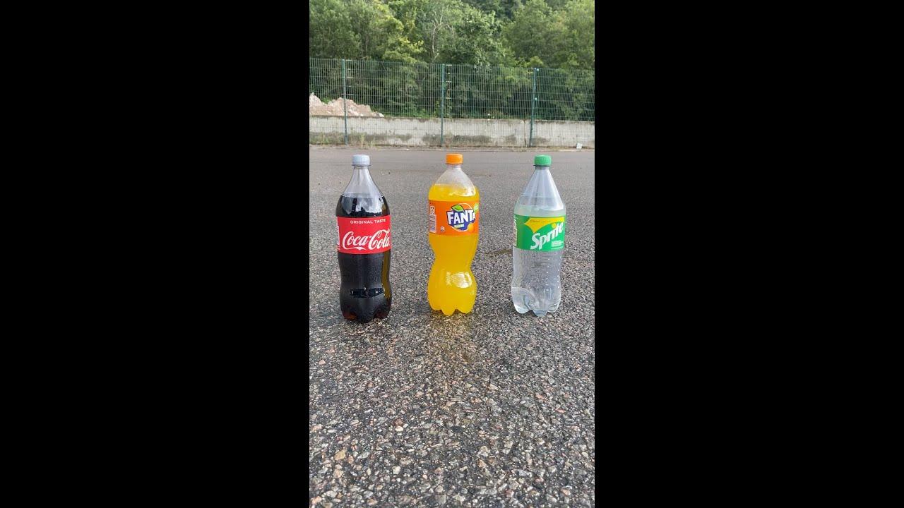 Coca Cola, Fanta, Sprite und Mentos | Experiment #Shorts
