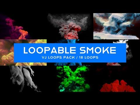 Loopable Smoke VJ Loops Pack