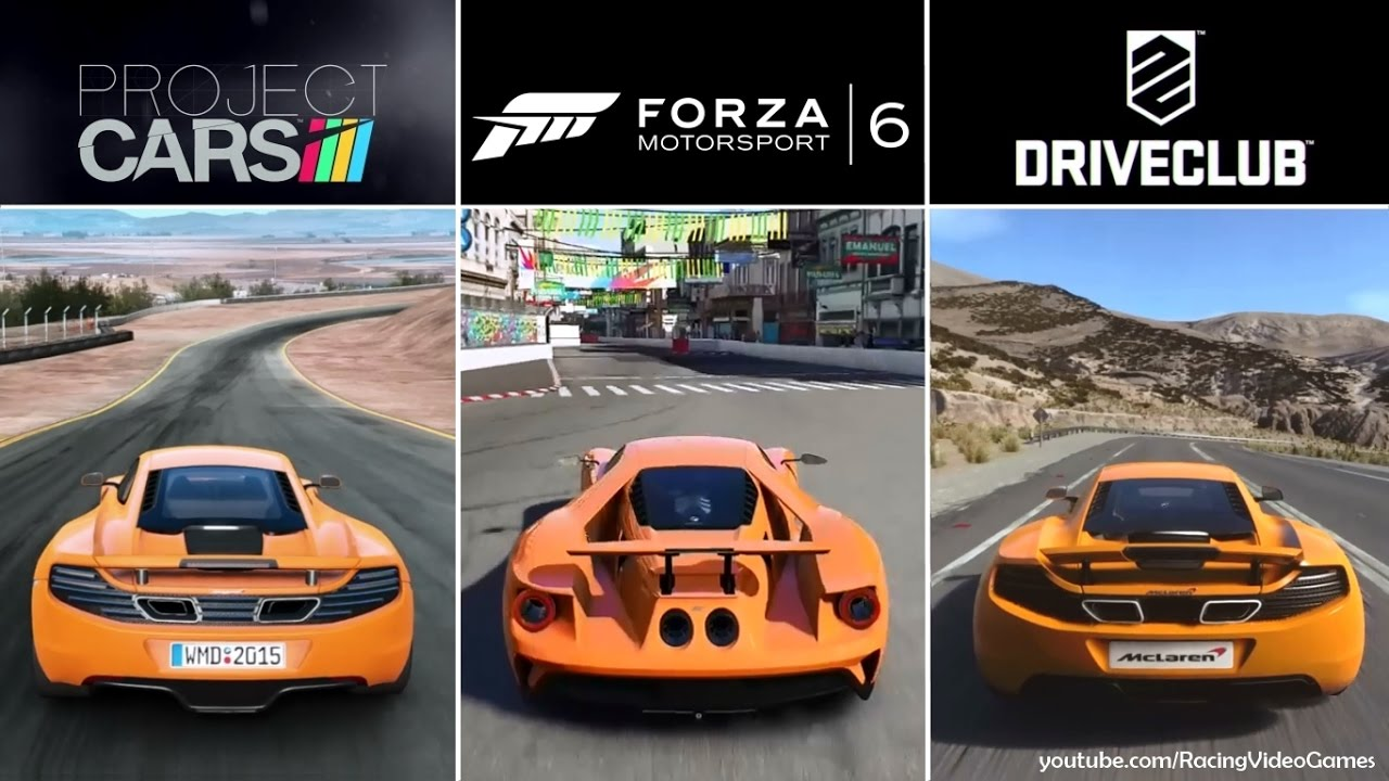 forza 6 vs driveclub vs project cars graphics rain. Black Bedroom Furniture Sets. Home Design Ideas