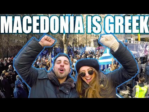 Macedonia is GREEK! NYC Rally at the United Nations