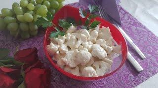 Вкусный салат из цветной капусты простой рецепт