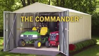 Arrow Commander Steel Storage Sheds Video