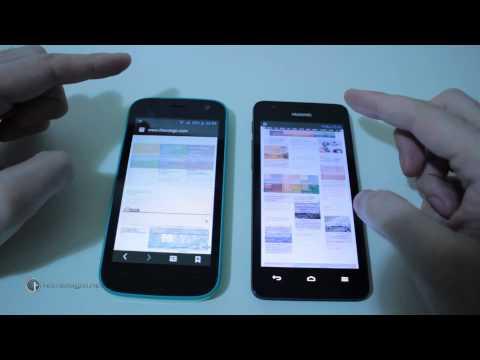 Huawei Ascend G525 vs Wiko Iggy: confronto display e navigazione web