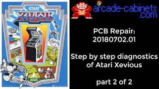 Arcade PCB repair #201807102.01: Detailed analysis and fix of Atari Xevious part 2 of 2