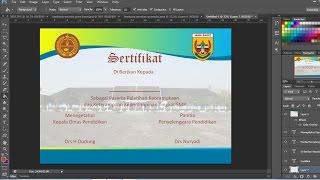 cara membuat sertifikat | piagam dengan photoshop