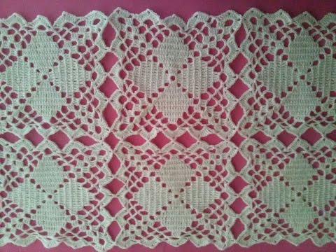Camino de mesa elegante en crochet 2 funnycat tv for Camino de mesa elegante en crochet