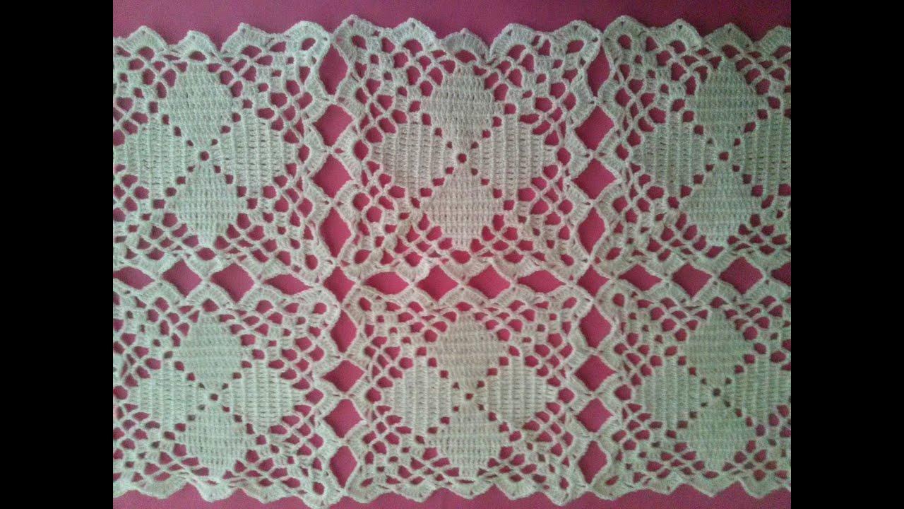 Camino de mesa mantel colcha o individual youtube - Mantel de crochet ...