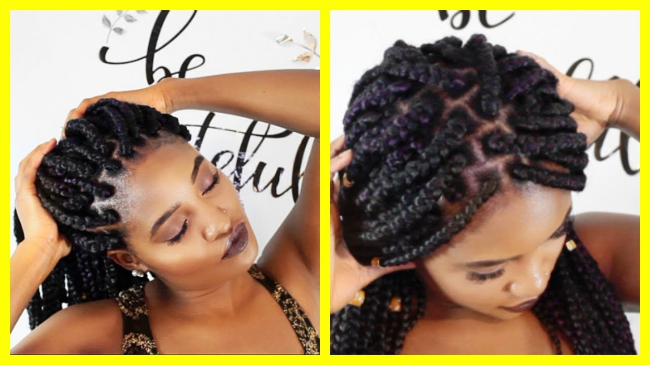 How To Do Box Braids On Yourself Diy Rubber Band Method