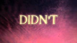 "The Belle Brigade: ""I Didn't Mean It"" (Lyric Video)"