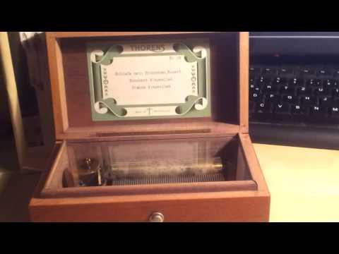 Thorens 3/50 antique cylinder music box ca. 1950