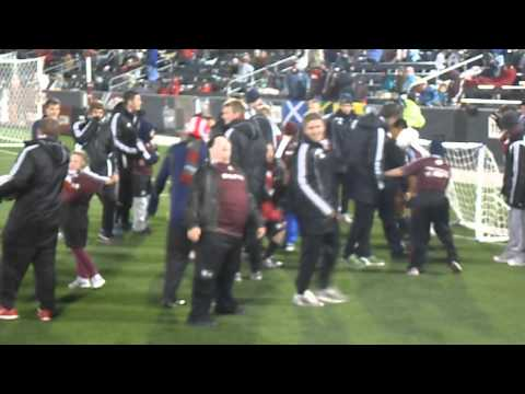 Dare to Play Soccer Team 2012 at the Rapids vs San Jose game during half-time