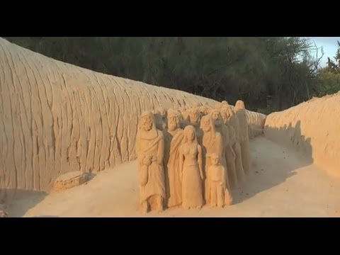 Sculptures in the sand at Eretz Israel Museum