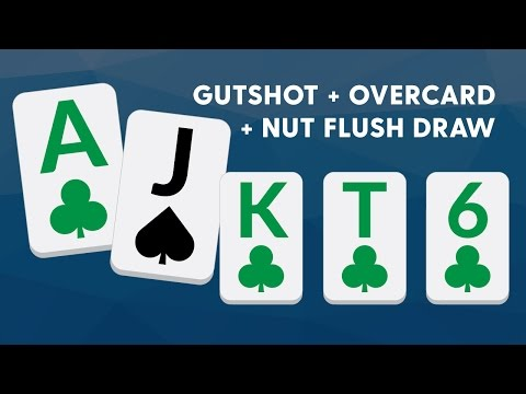 Jamming A Gutshot+Overcard+Nut Flush Draw - SplitSuit - 동영상