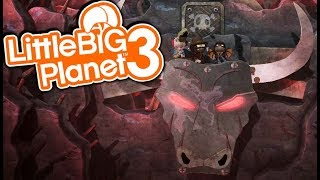 BUCKING BULL SURVIVAL! | Little Big Planet 3 Multiplayer (139)