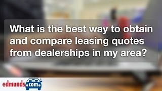 How to Compare Car Lease Quotes | Car Leasing