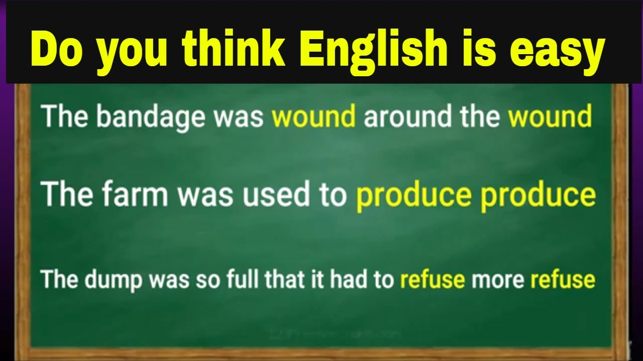Do you think english is easy then let's test