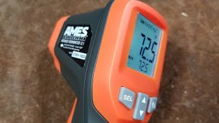Harbor Freight Ames Professional IR12 Non-Contact Infrared Thermometer Review & Comparison